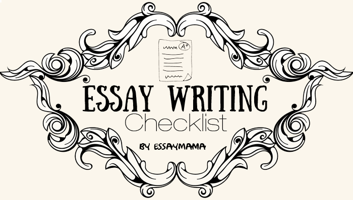 essay writing checklist headline